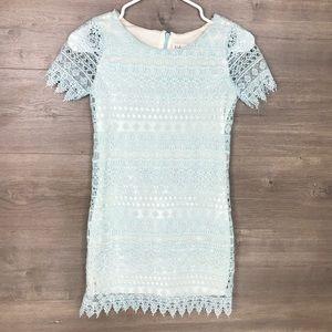 Blush by US Angels Girls Size 10 Lace Shift Dress